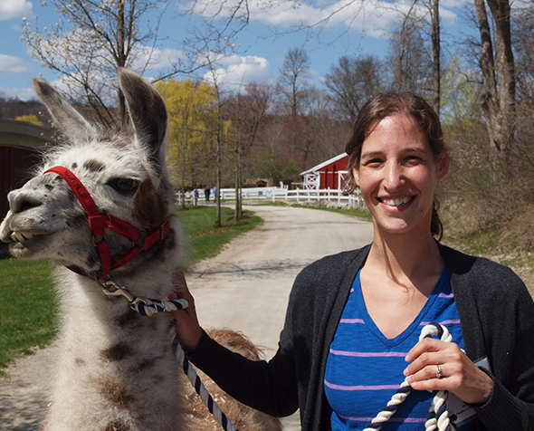 Alison Leslie and Llama