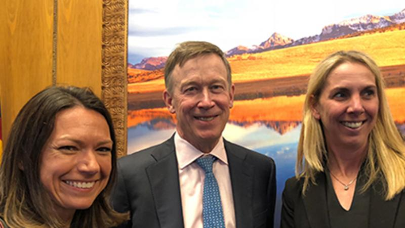 Suzanne Kerns and Gov. John Hickenlooper