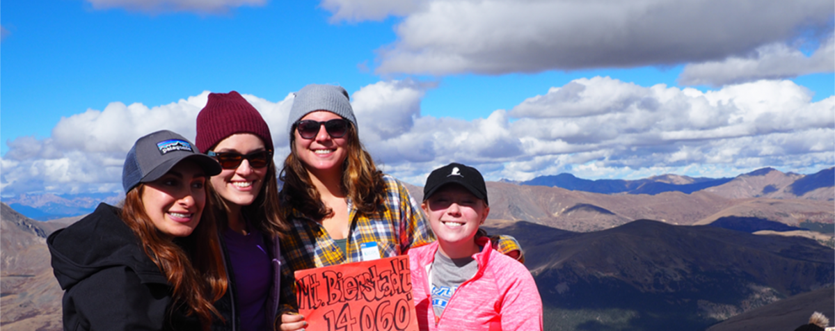 MSW students at the top of a mountain