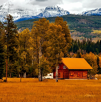 red house in rural Colorado ​