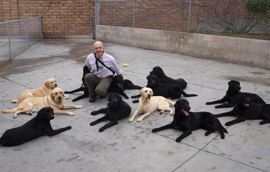Philip Tedeschi with dogs